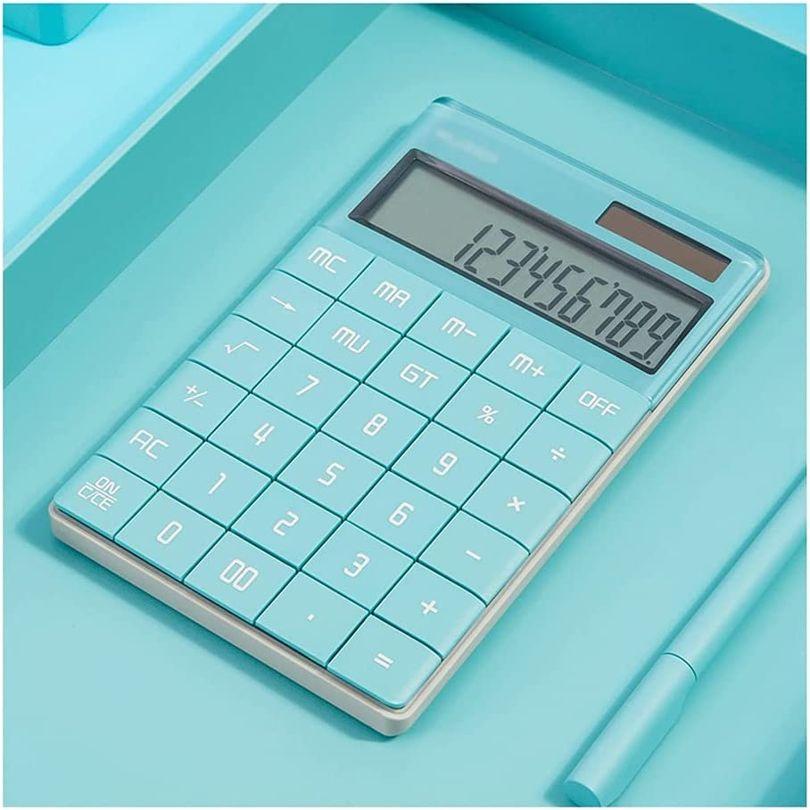 swq Desktop Calculator 12-Digit Max 73% OFF Large Buttons S Max 44% OFF Blue Display Big