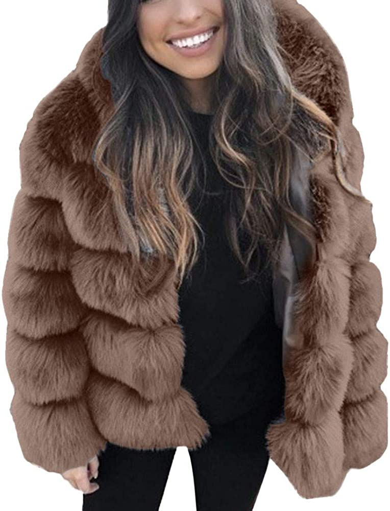 sold out Ladies Tops Purchase Kulywon Women Faux Mink J Hooded Fur New Winter