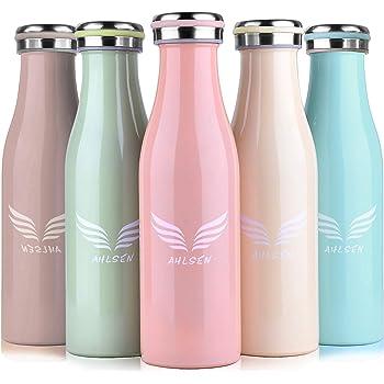 eplanita Botella de Agua de bambú, Libre de BPA y Biodegradable ...