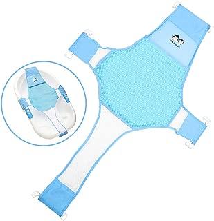StillCool Newborn Baby Bath Seat Support Net Bathtub Sling Shower Mesh Bathing Cradle Rings for Tub (Bathtub not Included)(Blue)
