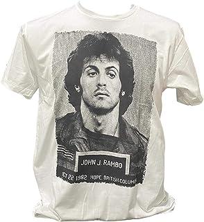 シルヴェスター スタローン ランボー ロッキー Sylvester Gardenzio Stallone Tシャツ インナー バンド Tシャツ メンズ レディース ロック 白 ホワイト [並行輸入品]