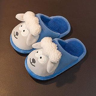 ECSWP MSGWNHLPSB Chaussons for Enfants Tissu en Coton Hiver Chaussures d'intérieur for garçons Gardez des Pantoufles de So...