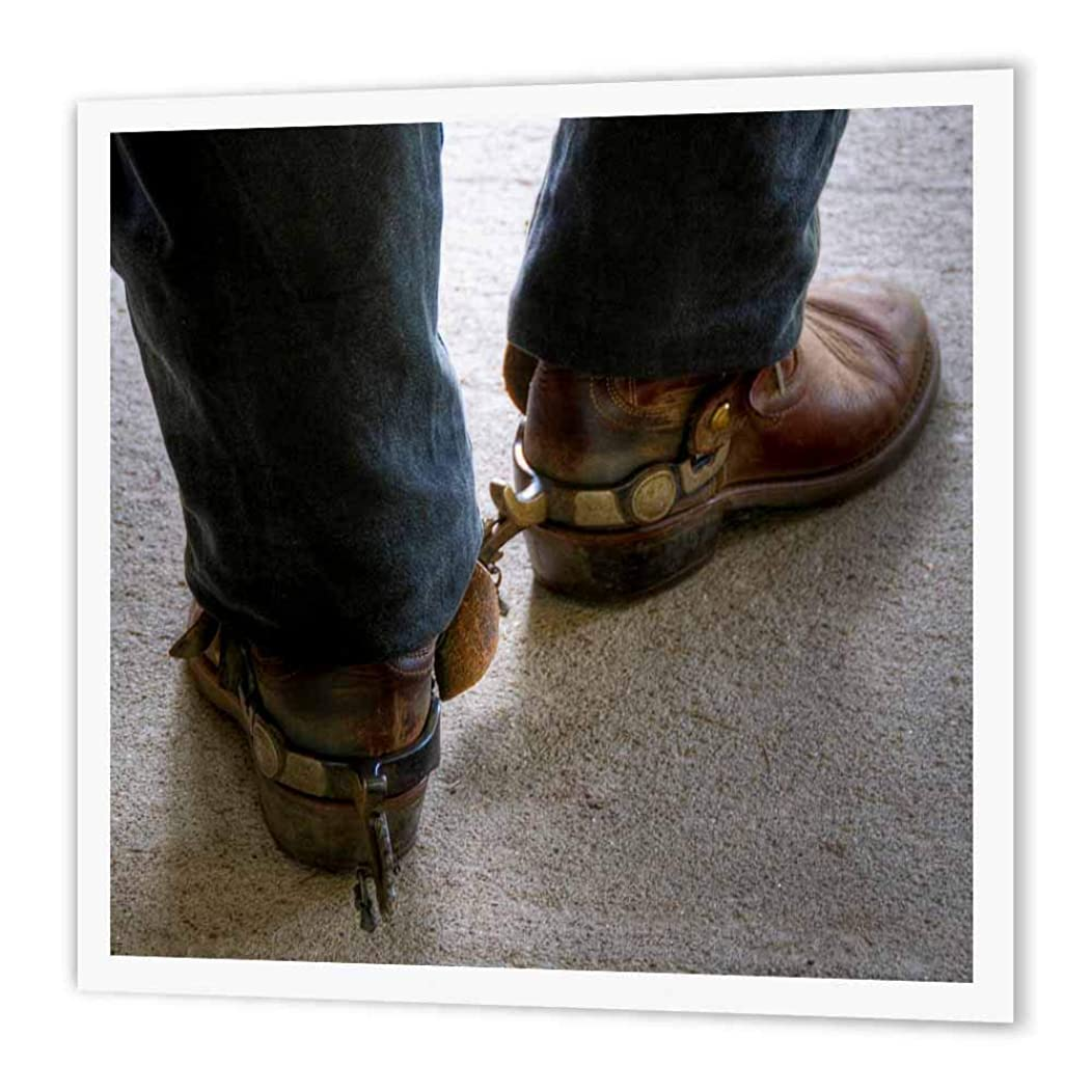 3dRose Man with Cowboy Boots with Spurs-Iron on Heat Transfer, 10 by 10