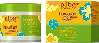 Alba Botanica Hawaiian Moisture Cream, Soothing Jasmine & Vitamin E 3 oz (Pack of 9)