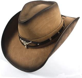 QinMei Zhou 2018 Cownoy Hat For Men Western Jazz Hat With Bull Head