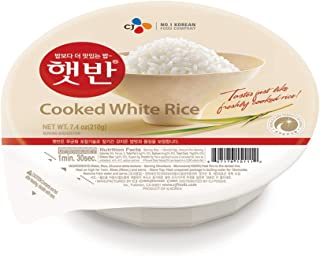 CJ Hetbahn Cooked White Rice, Gluten-Free, Vegan, Microwaveable, 7.4-oz (Pack of 12)