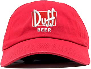 TOP LEVEL APPAREL Duff Beer Simpsons Logo Embroidered Low Profile Soft Crown Unisex Baseball Dad Hat