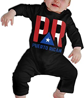 SARA NELL Baby Boys & Girls Bodysuit Puerto Rico Flag Jumpsuit Onesies Long Sleeve