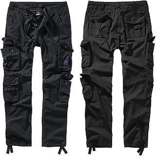 Brandit Pure Slim Fit Trouser (Black, 3XL)