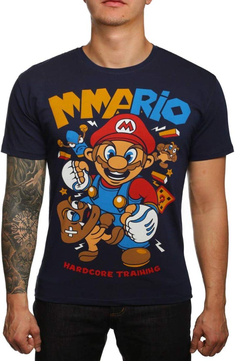Hardcore Training Memphis Mall MMArio Blue gift T-Shirt Short Fitness Sleeve Men's