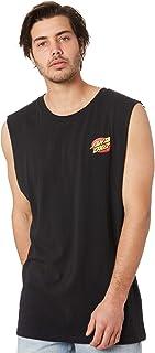 Santa Cruz Men's Oval Dot Mens Muscle Sleeveless Cotton Black