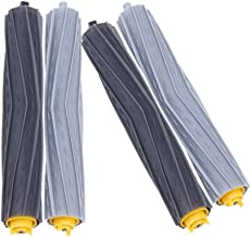 DoubleSun Tangle-Free Debris Extractor Roller Replacement Parts-2 Pairs of Rollers for iRobot Roomba 800&900 Series(890 891 894 860 861 864 880 870 980 960 961 964 etc.)