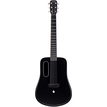 LAVA ME 2 Carbon Fiber Guitar with Effects 36 Inch Acoustic Electric Travel Guitar with Bag Picks and Charging Cable (Freeboost-Black)