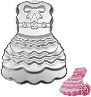 Beyonds DIY Princess Dress Baking Tray Cake Mold,Enjoy Baking Baby Shower Cake Mould Silicone Baking Molds Party Cake Bake Ware for Your Birthday Dessert, Cake, Bread, Tart, Pie, Flan and More