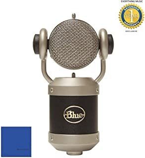 Blue Microphones Mouse Large-diaphragm Condenser Microphone with Microfiber and 1 Year Everything Music Extended Warranty