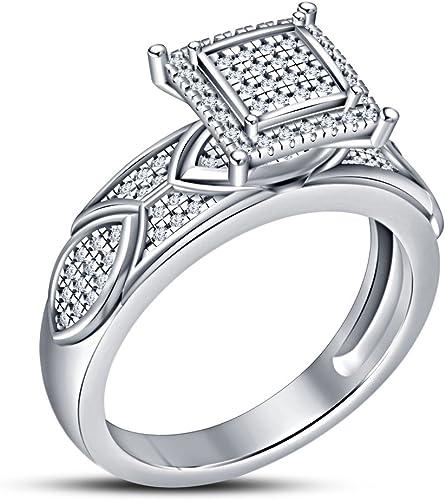 comprar descuentos Vorra Fashion Fashion Fashion Anillo de aniversario para mujer, plata de ley 925 maciza  marcas de moda