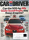 Car and Driver Magazine 2017 NEW CARARO ZL1 TESTED, LEXUS LS REVEALED New Racing Tech Destined For The Road DRIVEN BMW ALPINA B7