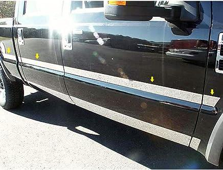 Lund 26510011 Polished Stainless Steel Latitude Nerf Bars for 2007-2013 Silverado//Sierra 1500 2007-2014 Silverado//Sierra 2500HD 3500HD Extended Cab