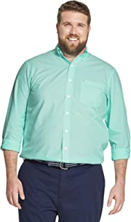 IZOD Men's Button Down Long Sleeve Stretch Performance Solid Shirt