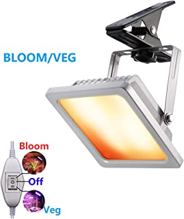 ACKE LED Grow Light with Veg and Bloom Switch,Waterproof Plant Light with Clamp for Grow Light Stand,Mini Greenhouse,Indoor Gardening (RBWS
