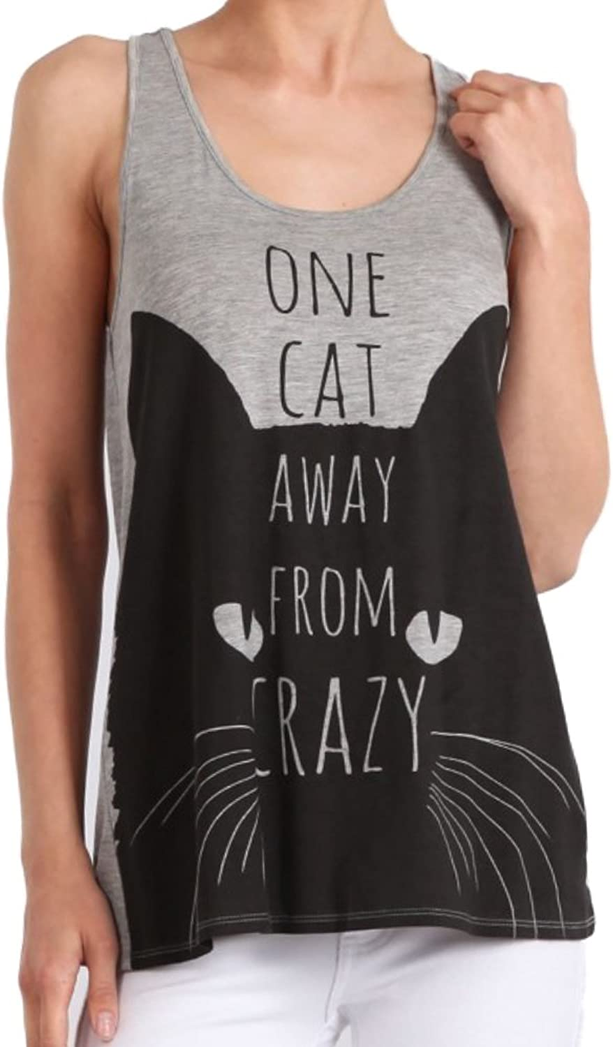 Bear Dance One Cat Away from Crazy Racerback Tank Cat Lady
