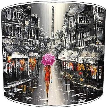 Premier Lighting Ltd 30cm Paris Red Umbrella Abat-jour8 pour Une Lampe de Table