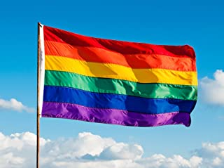4x6ft Gay Pride Flag / Rainbow flag - 100% made in USA - featuring individually sewn stripes, rich color and superior fade & fray resistance