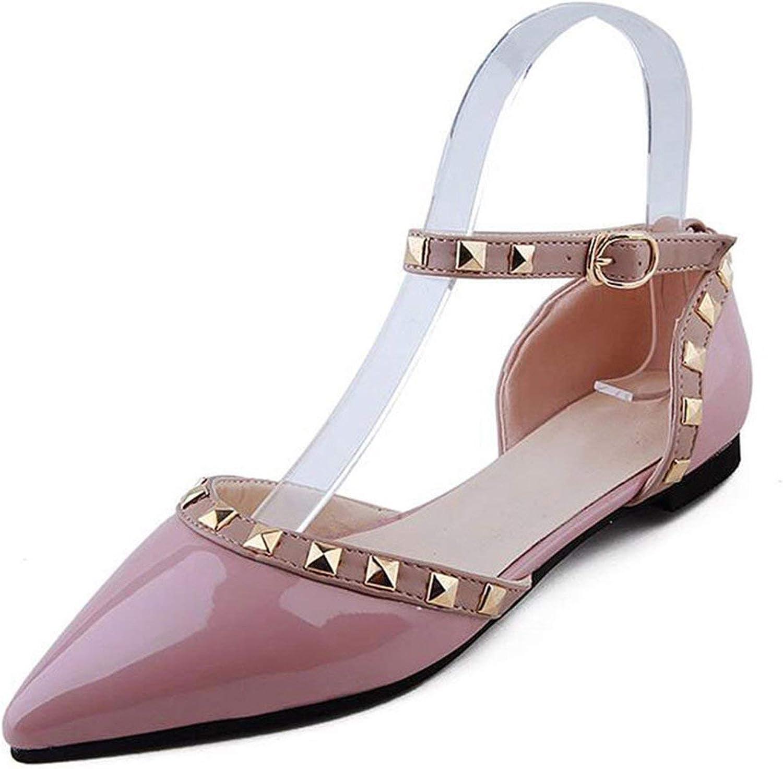 ALWAYS ME Women Sandals Wedding shoes Open Toes Sandalias women Buckle Rivet Black White Women Summer shoes