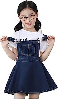 Kidscool Girls Big Bibs Adjustable Straps Denim Overall Tutu Dress