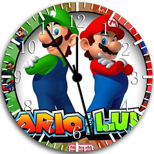 Super Mario Luigi reloj de pared 10'Niza regalo y habitación decoración de la pared W90