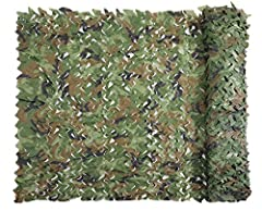 🌳🌳 LIGHTWEIGHT & DURABLE: The camo net is lightweight, durable. The net can be rolled up, easy to carry and store 🌳🌳 MILITARY THEME DECORATION: Great for army theme personalized decoration, such as film sets, theme parks, bars, hotels, rural tourism,...