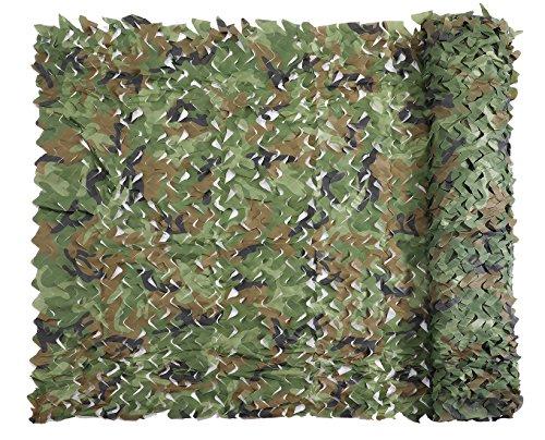 Filet de Camouflage, Militaires Net Woodland 1.5 x 2 M Couverture Durable sans Grille pour Ombre Protectioe Le Soleil Décon contrration Chasse Aveugles Parasol