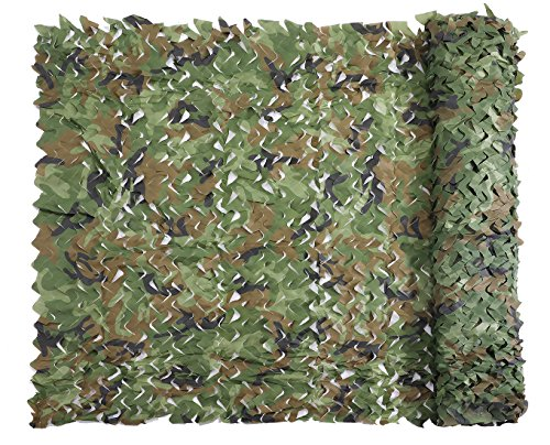 Senmortar Camo Netting, Camouflage Net Woodland 5 x 6.56 FT Nets Lightweight Durable for Sunshade Decoration Hunting Blind Shooting