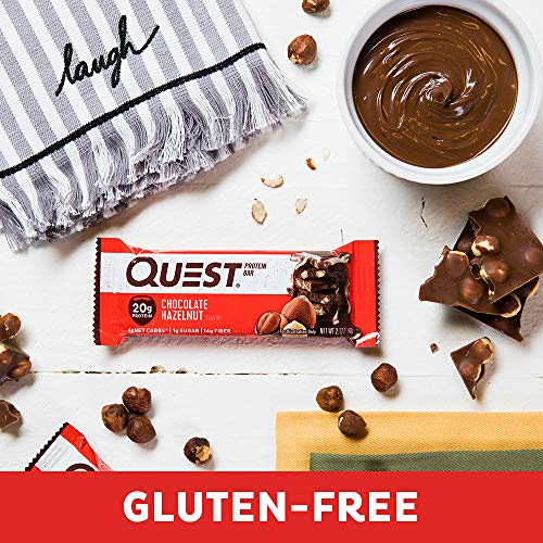 Quest Nutrition Chocolate Hazelnut Protein Bar, High Protein, Low Carb, Gluten Free, 12 Count 7