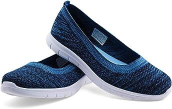 JABASIC Women Knit Loafers Comfortable Slip on Flats Shoes