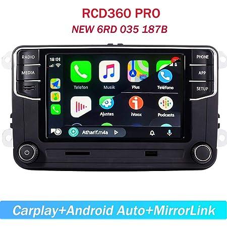 Scumaxcon Autoradio Rcd360 Rcd330 Carplay Android Auto Bluetooth Mirrorlink Usb Sd Rvc Für Golf Passat Polo Caddy Cc Eos Beetle Auto