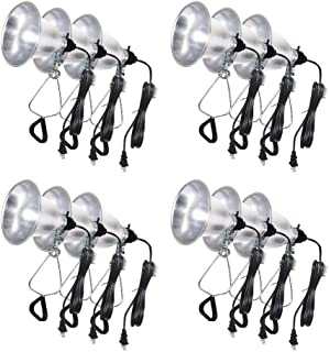 Simple Deluxe HIWKLTCLAMPLIGHTSX12 12-Pack Clamp Lamp Light with 5.5 Inch Aluminum Reflector up to 60 Watt E26/E27 (no Bulb Included) 6 Feet 18/2 SPT-2 Cord UL Listed