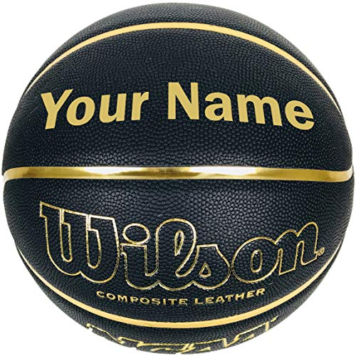 """Customized Personalized Wilson NCAA Black and Gold Basketball Official Size 29.5"""""""