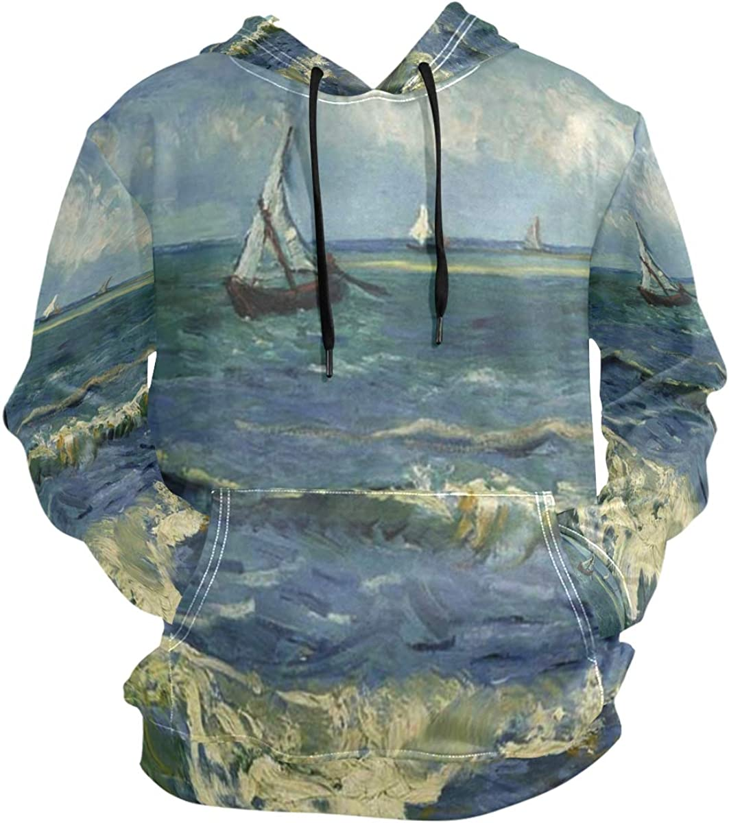 SLHFPX Monet Painting Sailboat Hoodie 3D Pullover Long Hooded Sl Selling Discount mail order rankings