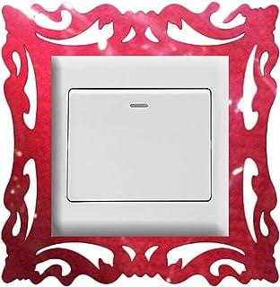 LNSTORE Stickers de commutateur Miroir 1pc Décoration de Maison Miroir Miroir Style Photo Cadre Stickers Stickers Accueil ...