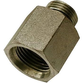 12 Units Straight Adapter 1//2 in Male O-Ring Boss x 3//8 in Female JIC 37/° Flare Swivel Brennan