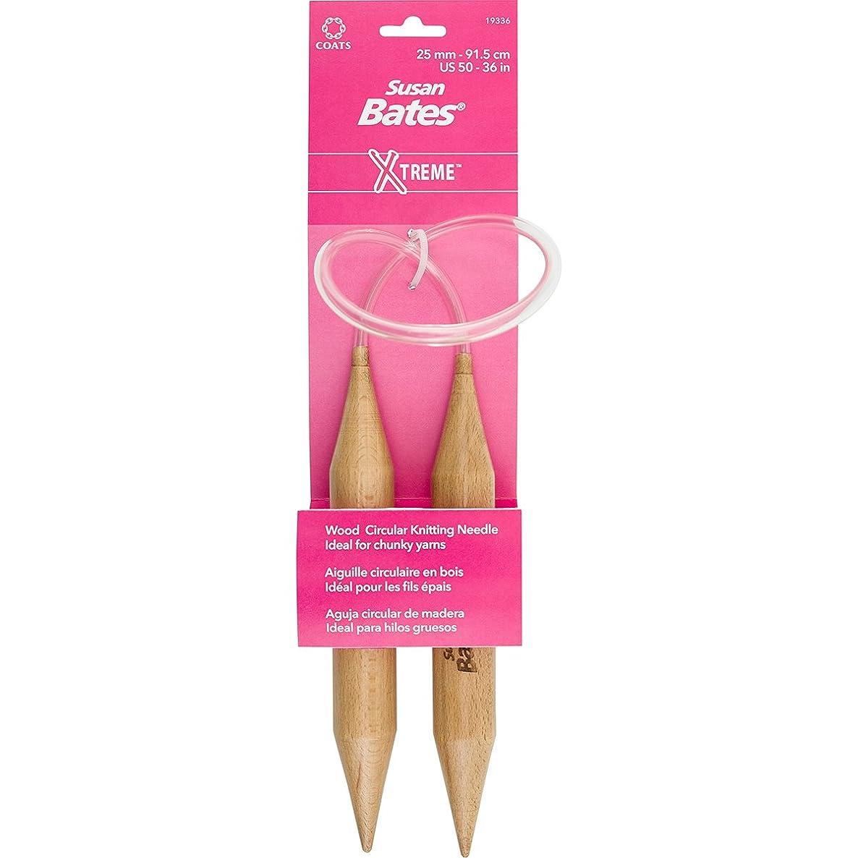 Susan Bates Xtreme Wood Circular Knit Needle Size 50, 36
