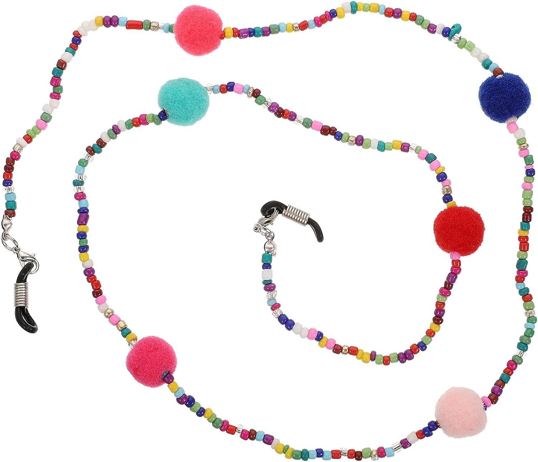 DOITOOL Bead Eyeglass Chain Holder Glasses Holder Sunglass Cord Neck Strap for Women Reading Glasses Sunglasses Strap Eyewear Retainer Colorful