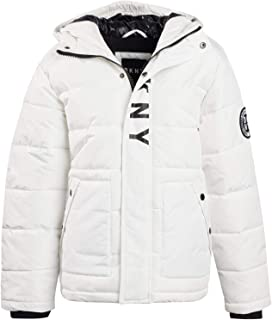 DKNY Boys' Heavyweight Bubble Puffer Jacket with Hood