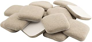 SoftTouch 4715495N Extended Wear Felt Furniture Pads for Hard and Uneven Surfaces, 1 Inch, Linen, 16 Piece