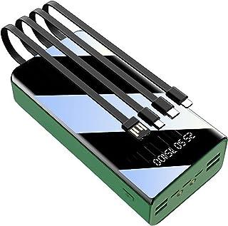 LIMIAO Bärbar laddare powerbank 50 000 mAh enorm kapacitet batteripaket, inbyggda laddningskablar, kan ladda 7 enheter sam...
