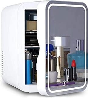 JTJxop Mini Réfrigérateur 8 litres Beauté Réfrigérateur, 2 en 1 Miroir De Maquillage Soins De La Peau avec Réfrigérateur L...
