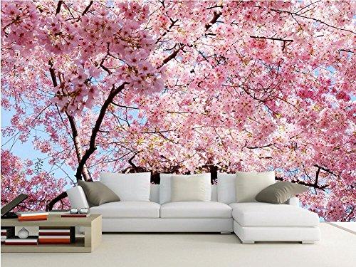 Yosot Benutzerdefinierte Fototapete 3D Große Wandbilder Kirschblüten Tapete Schlafzimmer Sofa Tv Hintergrund Wandbild Vliestapete-250Cmx175Cm