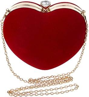 Trendy generous super cute Dinner bag Heart-shaped Evening Handbag Lady Makeup Dinner Clutch Tote Bag andbag Wedding Party...