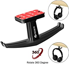 Headphone Stand Headset Holder ,FIDEA 360°Rotated bee Under Desk Dual Aluminum Headphone Hook Mount with Built-in Cord Management for All Headphones Size (Black)